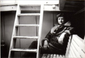 Curtis Bollington on the Rousay Ferry, 1986