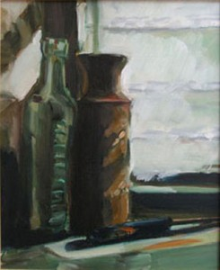 Still Life with Green Bottle, Nibbon