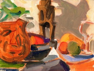 Still life, Gourd and Fruit